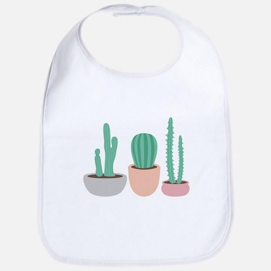 Potted Cactus Desert Plants Bib