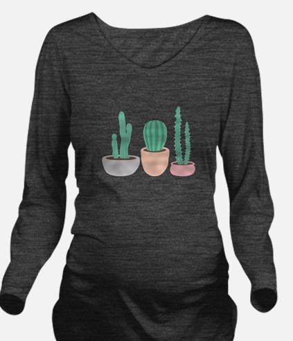 Potted Cactus Desert Plants Long Sleeve Maternity