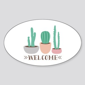 Potted Cactus Desert Plants Welcome Sticker