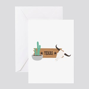 Southwest Wooden Sign Cow Skull Cactus Texas Greet