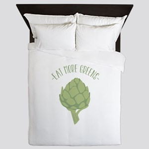 Artichoke Vegetable Eat Greens Queen Duvet