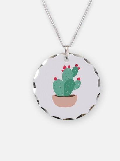 Prickly Pear Cactus Plant Necklace