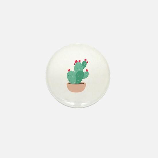 Prickly Pear Cactus Plant Mini Button