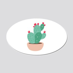 Prickly Pear Cactus Plant Wall Decal