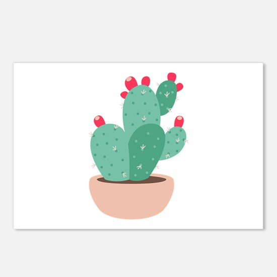 Prickly Pear Cactus Plant Postcards (Package of 8)