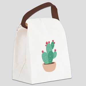 Prickly Pear Cactus Plant Canvas Lunch Bag