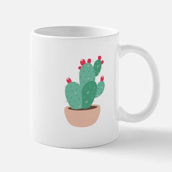 Prickly Pear Cactus Plant Mugs