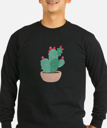 Prickly Pear Cactus Plant Long Sleeve T-Shirt