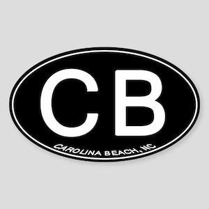 Carolina Beach NC Oval CB Sticker