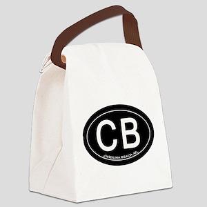 Carolina Beach NC Oval CB Canvas Lunch Bag