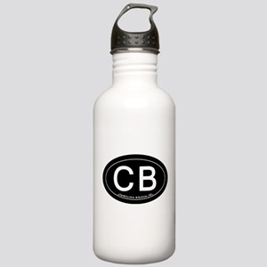 Carolina Beach NC Oval CB Water Bottle