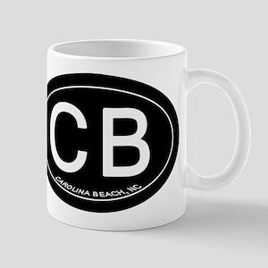 Carolina Beach NC Oval CB Mugs