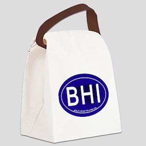Bald Head Island NC Oval BHI Canvas Lunch Bag
