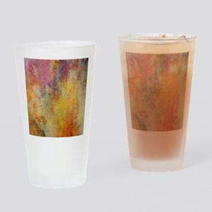 Pink, Purple and Gold Abstract Desi Drinking Glass