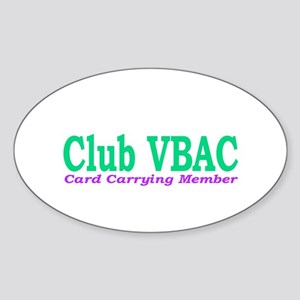 VBAC Member Oval Sticker