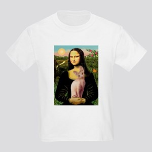Sphynx Cat & Mona Lisa Kids Light T-Shirt