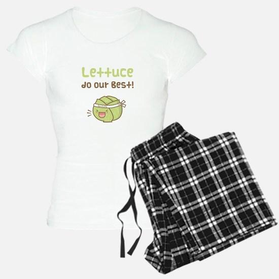 Kawaii Lettuce Do Our Best Vegetable Pun Pajamas