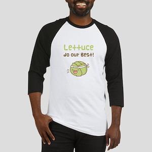 Kawaii Lettuce Do Our Best Vegetable Pun Baseball