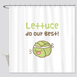 Kawaii Lettuce Do Our Best Vegetable Pun Shower Cu