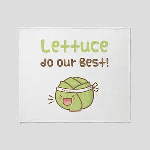 Kawaii Lettuce Do Our Best Vegetable Pun Throw Bla