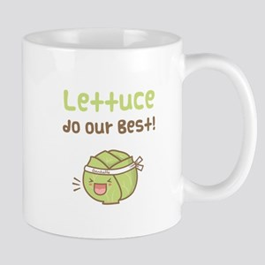 Kawaii Lettuce Do Our Best Vegetable Pun Mugs