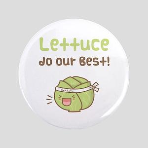 Kawaii Lettuce Do Our Best Vegetable Pun Button