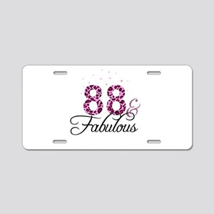 88 and Fabulous Aluminum License Plate