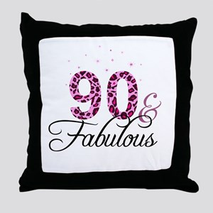 90 and Fabulous Throw Pillow