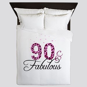 90 and Fabulous Queen Duvet