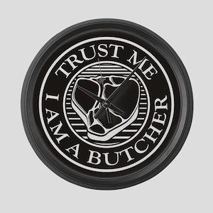 Trust me, I am a Butcher T-bone Large Wall Clock