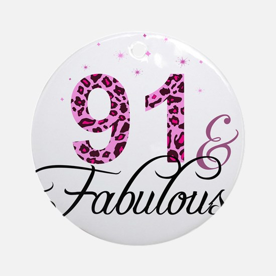 91 and Fabulous Ornament (Round)