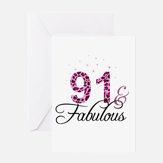 91 and Fabulous Greeting Cards