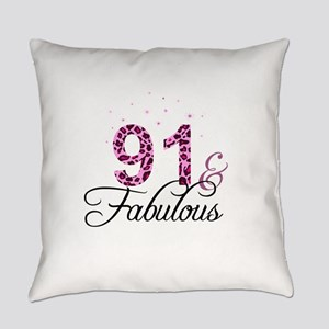 91 and Fabulous Everyday Pillow