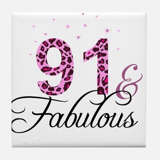 91 and Fabulous Tile Coaster