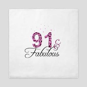91 and Fabulous Queen Duvet