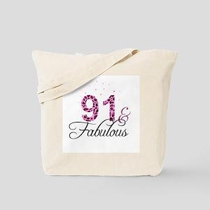 91 and Fabulous Tote Bag