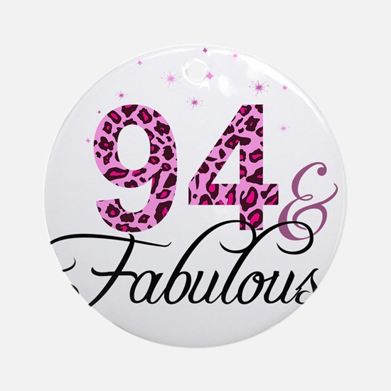 94 and Fabulous Ornament (Round)