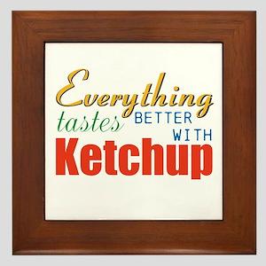 Better With Ketchup Framed Tile