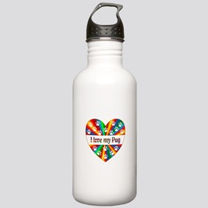Pug Love Stainless Water Bottle 1.0L