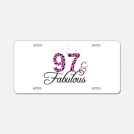 97 and Fabulous Aluminum License Plate