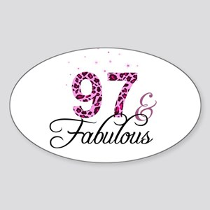 97 and Fabulous Sticker