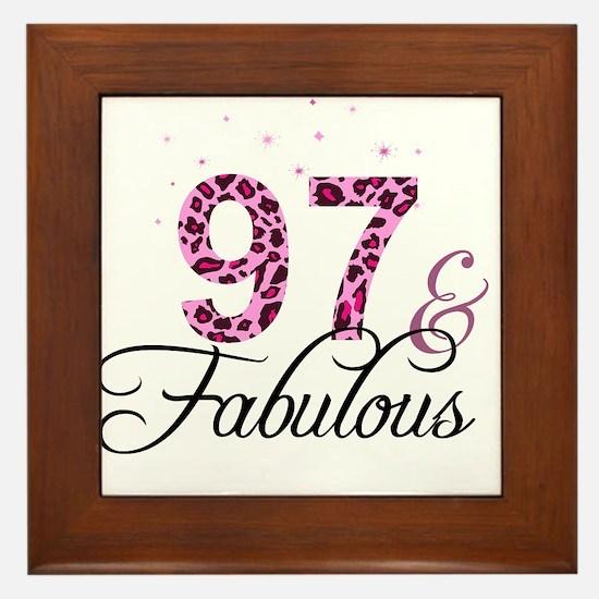 97 and Fabulous Framed Tile