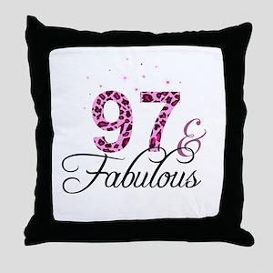 97 and Fabulous Throw Pillow