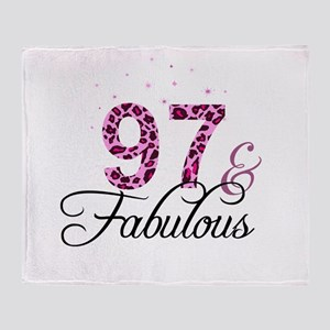 97 and Fabulous Throw Blanket