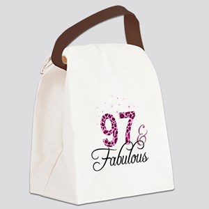 97 and Fabulous Canvas Lunch Bag