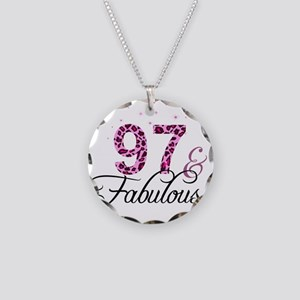 97 and Fabulous Necklace Circle Charm