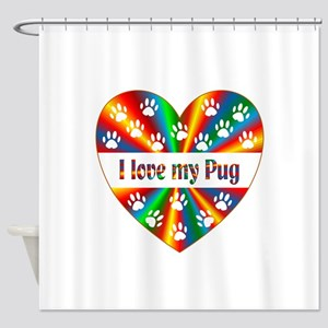 Pug Love Shower Curtain