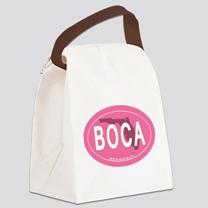 Boca Raton FL Oval Canvas Lunch Bag