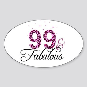 99 and Fabulous Sticker