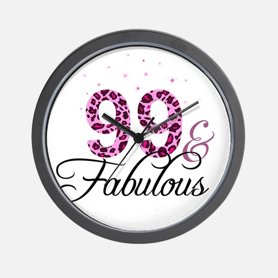 99 and Fabulous Wall Clock
